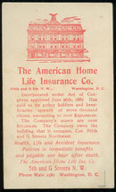 American Home Life Insurance Victorian Trade Card