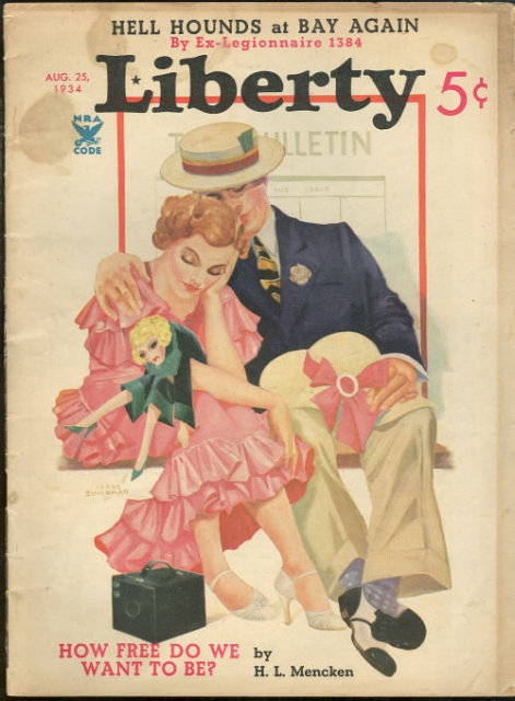 Liberty Magazine August 25, 1934 Greta Garbo's Life