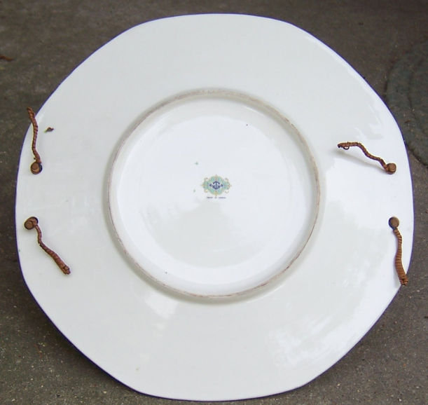 Vintage Japanese Chintz Plate with Bamboo Handle