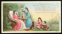 Ayer's Sarsaparilla Purifies Blood Victorian Trade Card