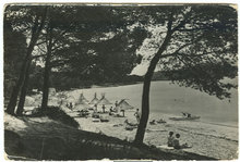 Real Photo Postcard of Beach at Mallorca, Spain