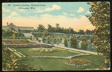Postcard of Sunken Garden, Mitchell Park, Milwaukee, Wisconsin