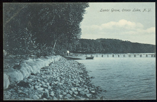 Postcard of Lambi Grove, Olisco Lake, New York