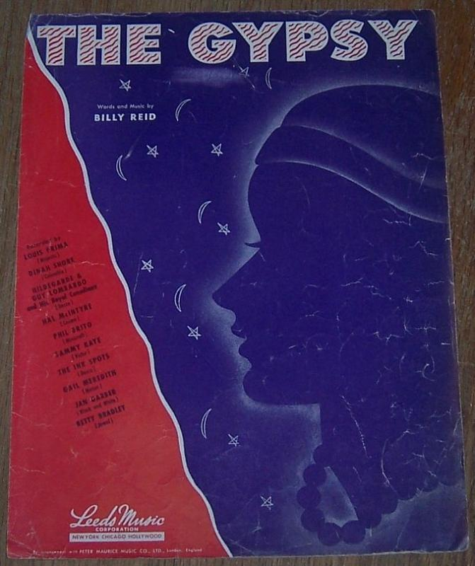 The Gypsy by Billy Reid 1944 Sheet Music Classic Standard