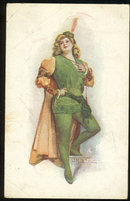 Postcard of Lovely Lady Dressed Up, A Study in Green