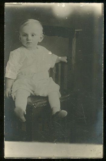 Real Photo Post card of Baby Boy Sitting in Chair