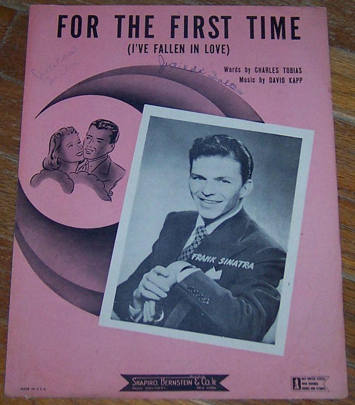 For the First Time I've Fallen in Love Sung by Frank Sinatra 1943 Sheet Music