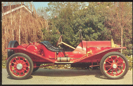 Postcard of 1911 Marmon Speedster Model 32