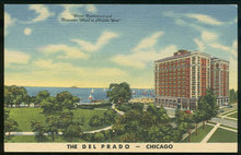 Postcard of The Del Prado Hotel, Chicago, Illinois