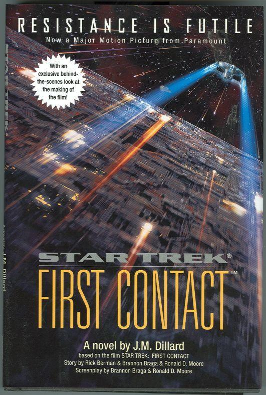 Star Trek: First Contact by J. M. Dillard 1996 Illustrated with Movie Photos