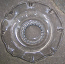 Vintage Clear Glass Center Bowl with Ruffled Edge