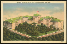 Postcard of Eastman Hotel and baths, Hot Springs National Park, Arkansas