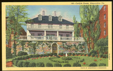Postcard of Carlyle House, Alexandria, Virgina