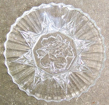 Federal Glass Pioneer Fruit Luncheon Plate