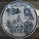 Vintage Blue and White Souvenir Plate From Lincoln New Salem State Park Illinois