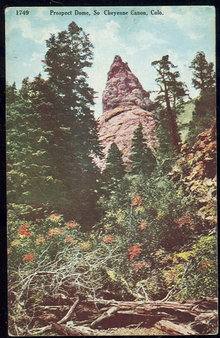 Postcard of Prospect Dome, So.Cheyenne Canon Colorado