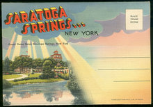 Souvenir Postcard Folder of Saratoga Springs, New York