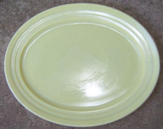 Vintage Yellow Moderntone Platonite Serving Platter