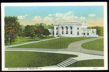 Postcard of Governor's Mansion, Frankfort, Kentucky
