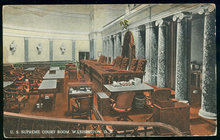 Postcard of U.S. Supreme Court Room, Washington D.C.
