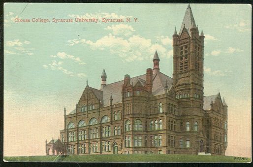 Postcard of Crouse College, Syracuse, New York