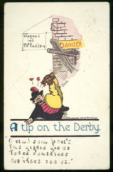 Comic Undivided 1907 Postcard of A Tip on the Derby