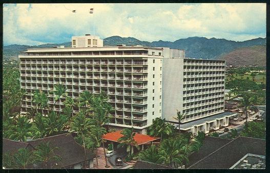 Postcard of Princess Kaiulani Hotel, Waikiki Beach, Hawaii