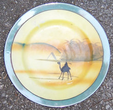 Made in Japan Small Plate with Egyptian Desert Scene