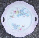 Vintage Pretty Floral China Plate with Two Handles
