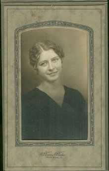 Framed RPPC Young Lady From Wilkes Barre Pennsylvania