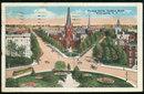 Postcard of Thomas Circle Looking North Washington D.C.