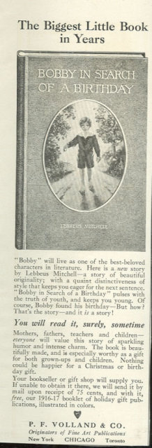 Bobby in Search of a Birthday 1916 Magazine Ad