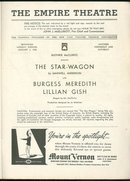 Playbill Star Wagon Starring Lillian Gish 1938