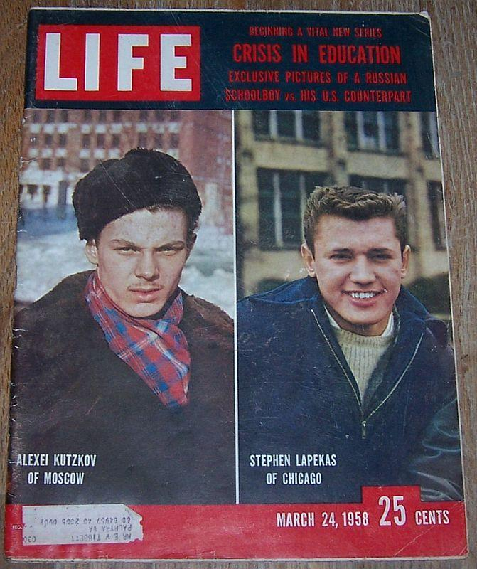Life Magazine March 24 1958 Educational Crisis Cover/Silky Sullivan/Off-Broadway