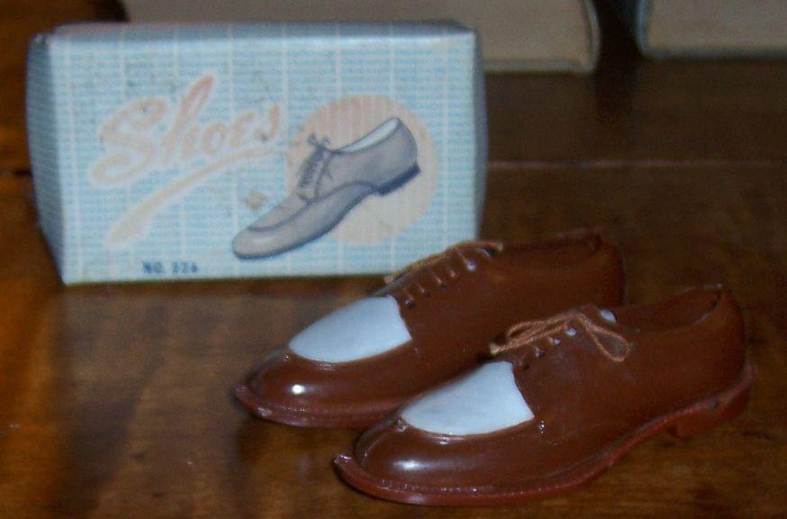 Endeavor Plastic Brown and White Men's Dress Shoes Toys For Children in Box