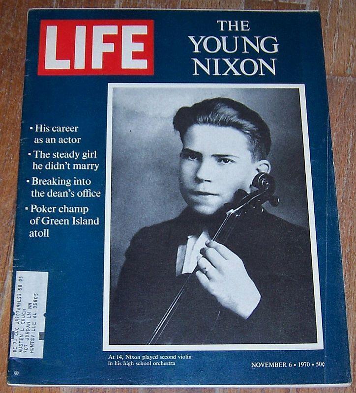 Life Magazine November 6, 1970 Young Nixon Cover/Lem Barney/Face Doodles/Octopi