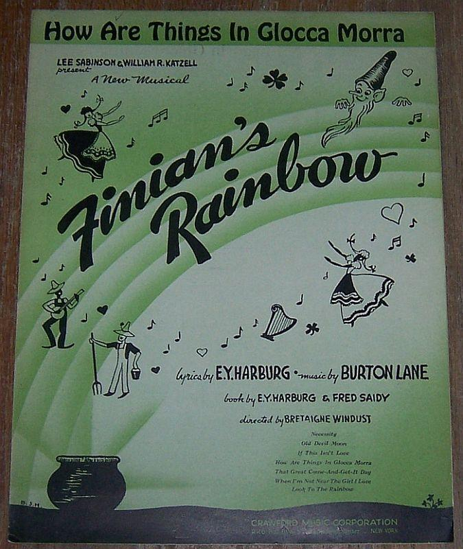 How Are Things in Glocca Morra From Musical Finian's Rainbow 1946 Sheet Music