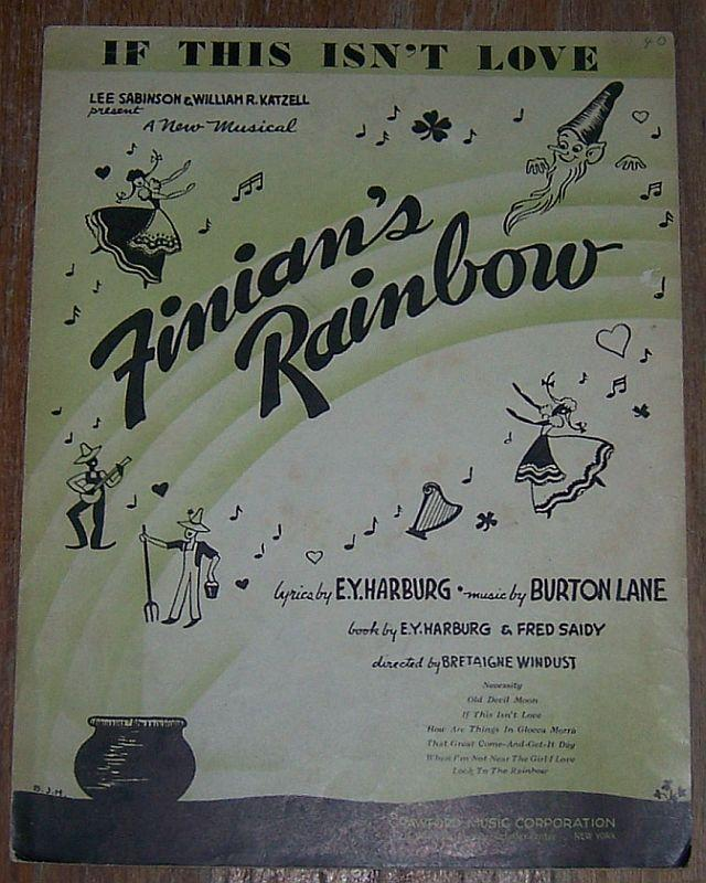 If This Isn't Love From New Musical Finian's Rainbow 1946 Sheet Music