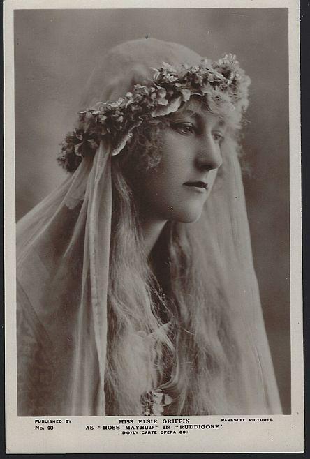 Vintage Postcard Opera Singer Miss Elsie Griffin As Rose Maybud in Ruddigore