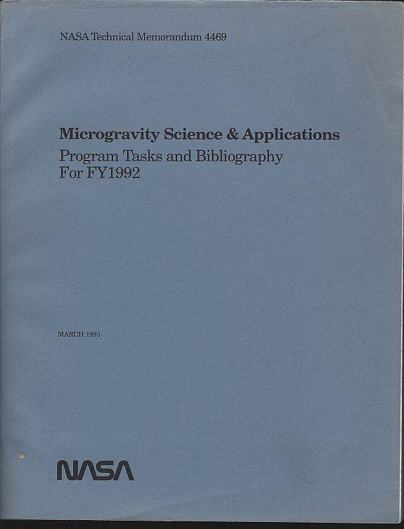 Microgravity Science and Applications Program Tasks and Bibliography March 1993