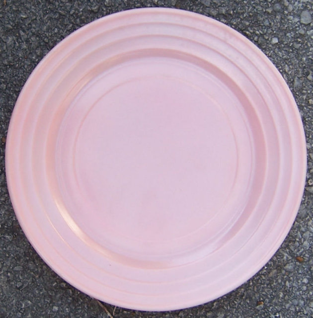 Vintage Pink Moderntone Hazel Atlas Glass Dinner Plate