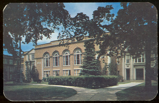 Postcard of West High School, Green Bay, Wisconsin 1951