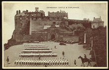 Postcard of Edinburgh Castle and Esplanade, Scotland