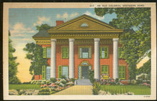 Vintage Postcard of An Old Colonial Southern Home