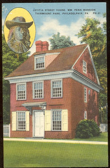 Postcard of Letitia Street House, Philadelphia,Pennsylvania