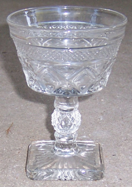 Imperial Glass Clear Cape Cod Red Wine Goblet