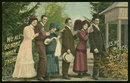 Postcard of Traveling Group of Victorian Men and Women
