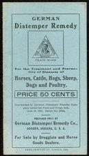Booklet for German Distemper Remedy for Livestock 1906