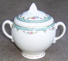 Vintage Salem China Symphony Sugar Bowl with Flowers