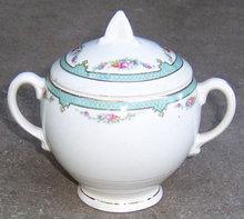 Vintage Salem China Symphony Sugar Bowl with Flowers